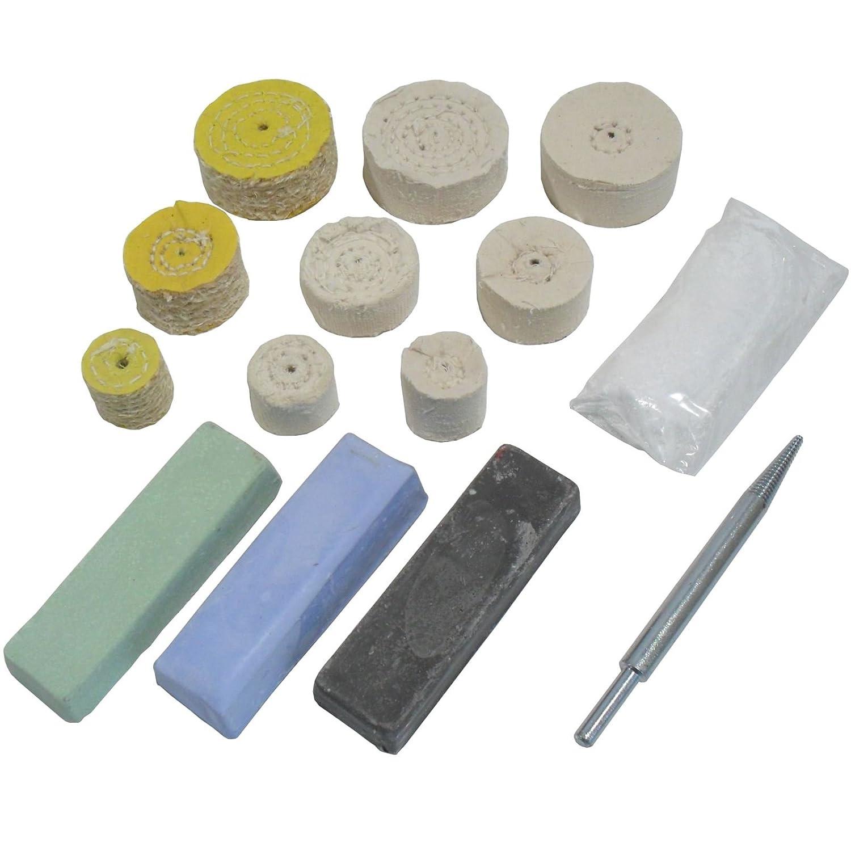 Mini Metal Polishing Kit Coarse Medium and Fine Mops 1 2 Mops POL02 1.5