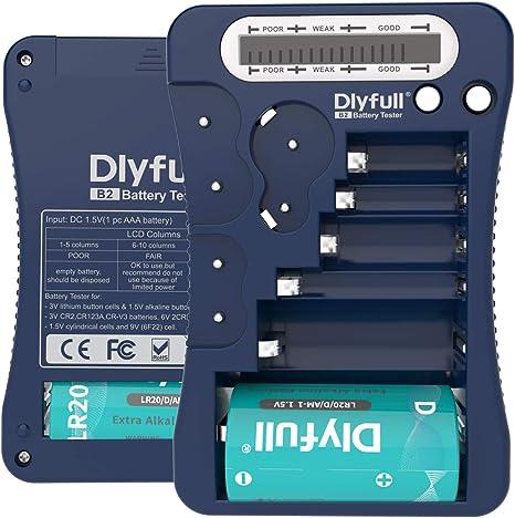 Dlyfull Lcd Universal Battery Tester For Aa Aaa C D 9v Elektronik