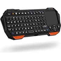 Fosmon Mini Bluetooth Keyboard (QWERTY Keypad), Wireless Portable Lightweight with built-in Touchpad, works with Apple TV, PS4, Smartphones and more