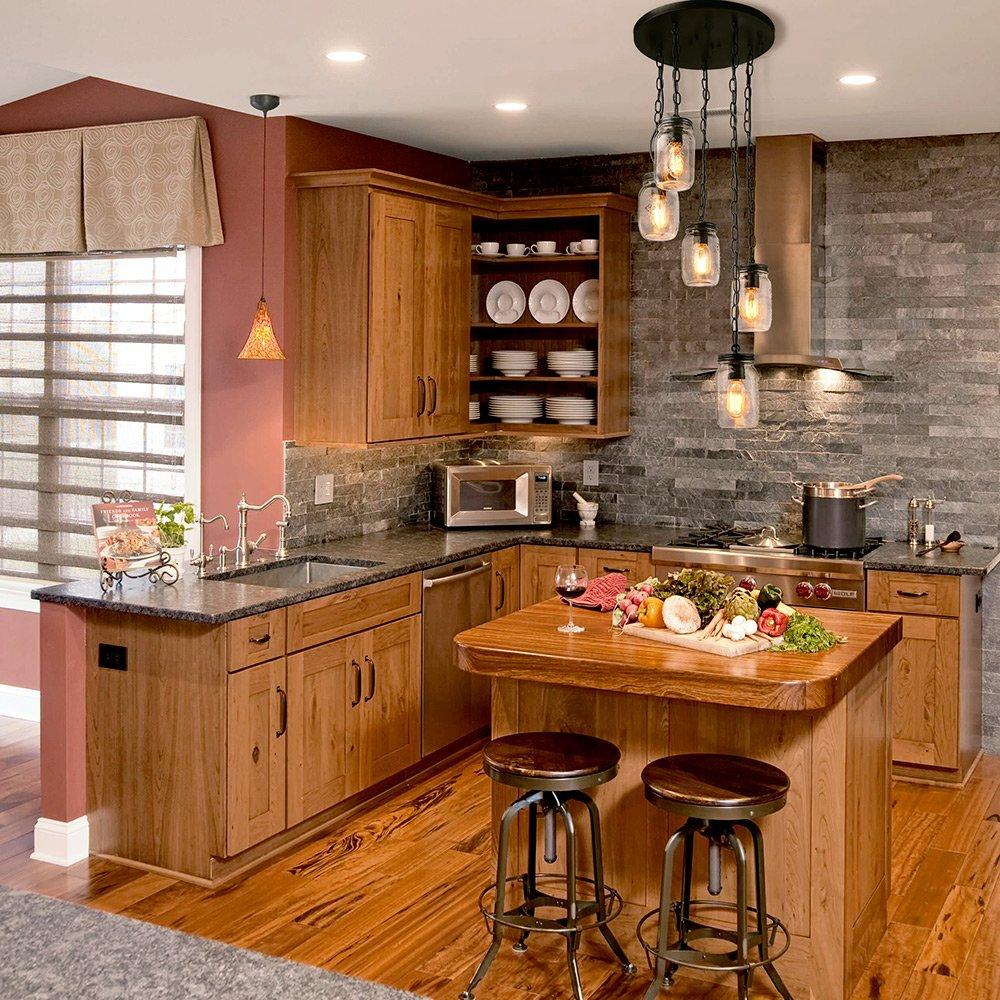 Dining Room LNC Adjustable Mason Jar Chandelier Bronze Pendant Lights for Kitchen A03224