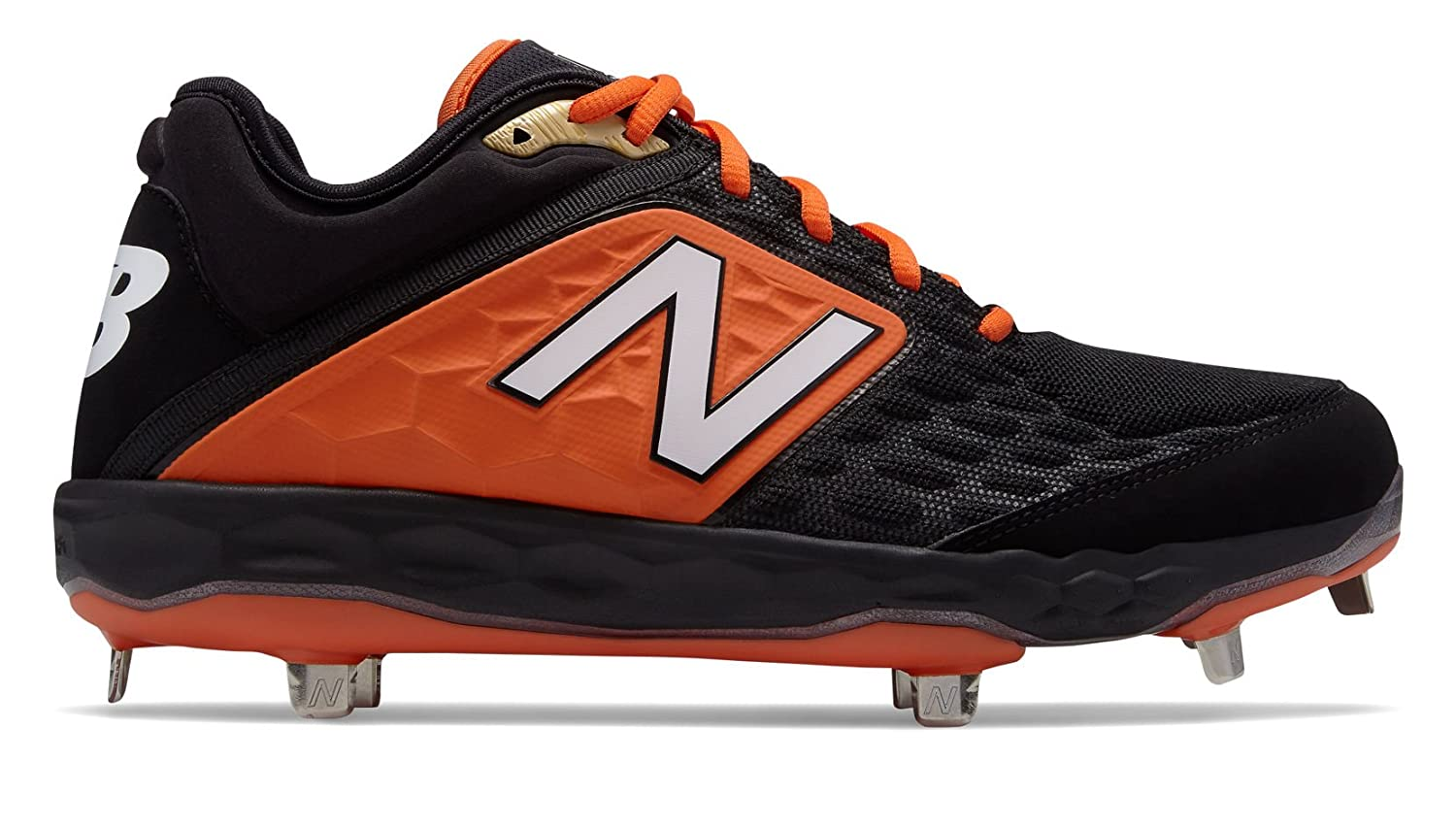 New Balance Men's 3000v4 Baseball Shoe B075R7LC2F 5.5 2E US|Black/Orange