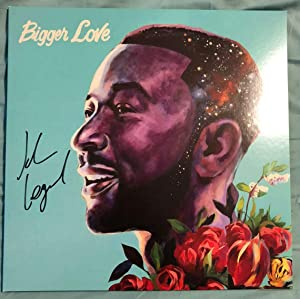 "JOHN LEGEND""Bigger Love"" Signed LP Autographed Record Vinyl HAND SIGNED"