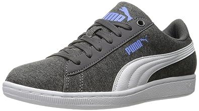 PUMA Women's Vikky Jersey Sfoam Fashion Sneaker, Periscope White, ...