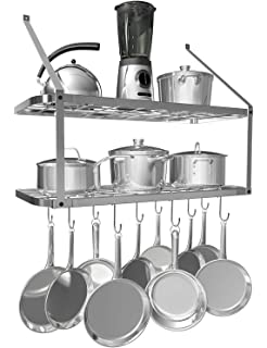 amazon home styles 4509 95 dolly madison prep and serve cart Kitchen Island with Table Top vdomus shelf pot rack wall mounted pan hanging racks 2 tire silver