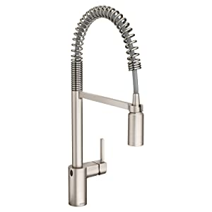Moen 5923EWSRS Align Motionsense Wave Sensor Touchless One-Handle High Arc Pulldown Kitchen Faucet, Spot Resist Stainless