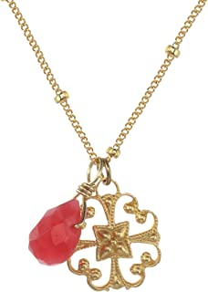 product image for a. v. max Satellite Chain with Red Drop Necklace