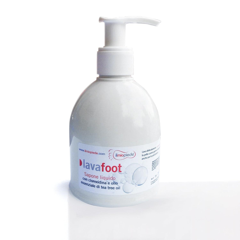 Lavafoot. Sapone liquido disinfettante ed antibatterico, con clorexidina e olio essenziale di tea tree oil Ilmiopiede