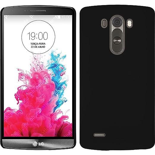 30 opinioni per Custodia Rigida per LG G3- gommata nero- Cover PhoneNatic + pellicola protettiva