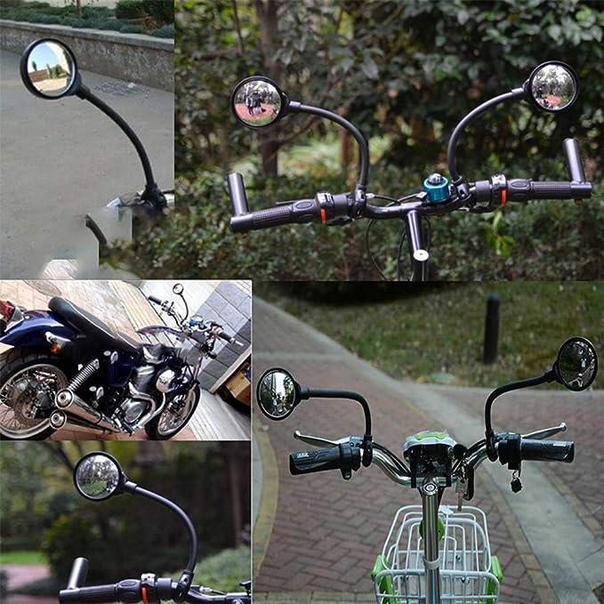 QianYang Espejo retrovisor para Bicicleta, Plegable, Ajustable ...