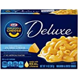 Kraft Deluxe Macaroni and Cheese Dinner, Original with 2% Milk Cheese, 14 Ounce (Pack of 6 Boxes)