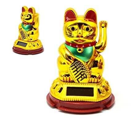 Gato afortunado chino Solar Agitando gato Gato de la fortuna ...