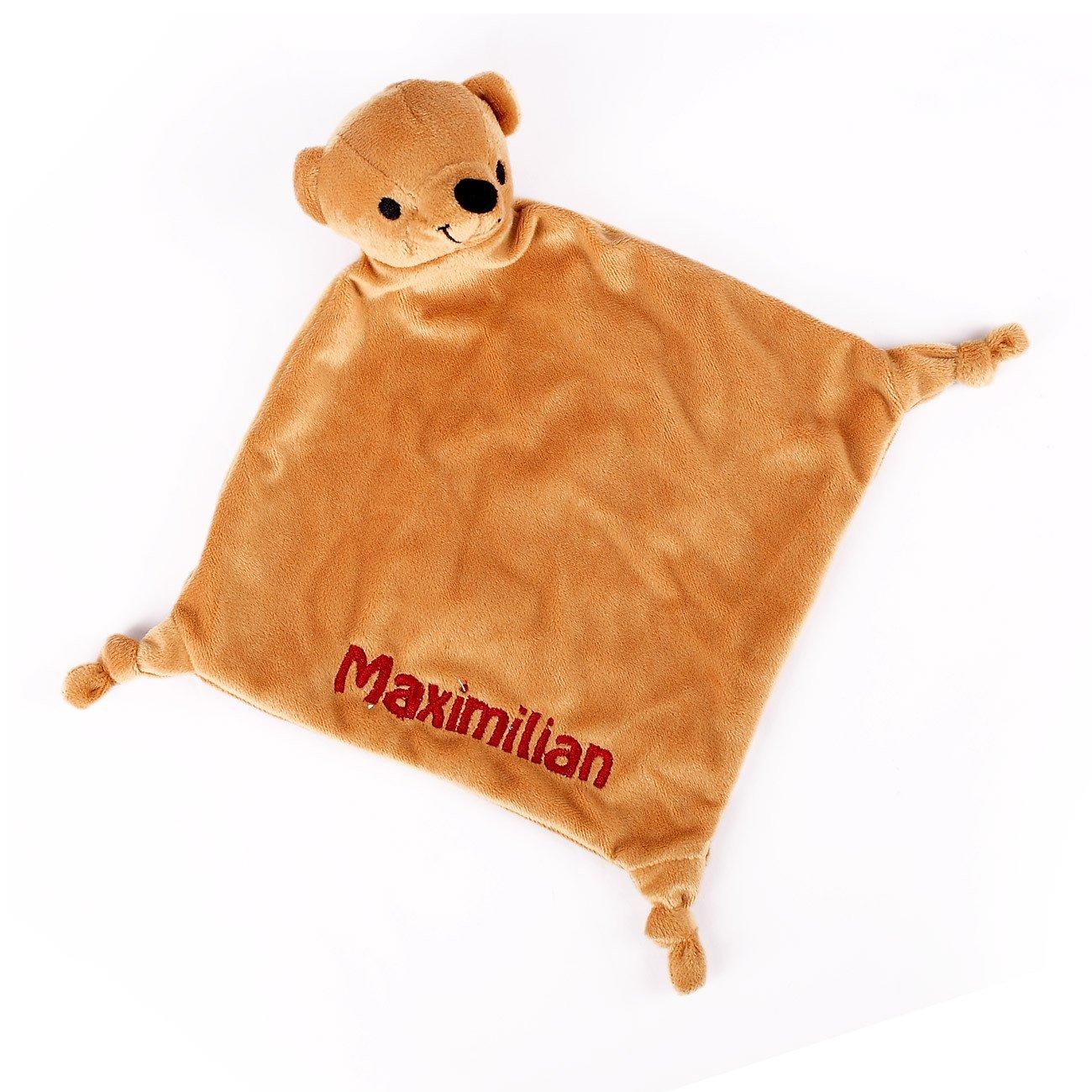 Striefchen Bä ren Schnuffeltuch mit gratis Namen bestickt mit Geschenkverpackung Striefchen® pde-tex-stu-bae-ntl741