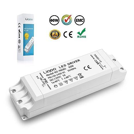 Liqoo® 1-60W LED Trafo Transformador del Conductor Eléctrico de Alimentación del Driver para