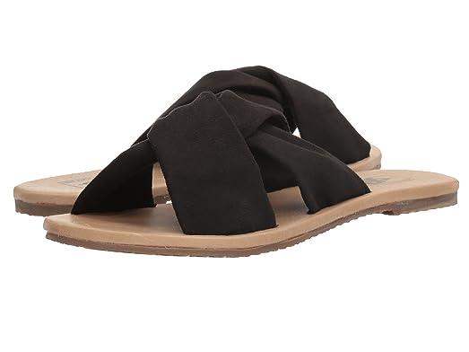 Women's Ayla Slide (Suede) Black Athletic Slide Sandals