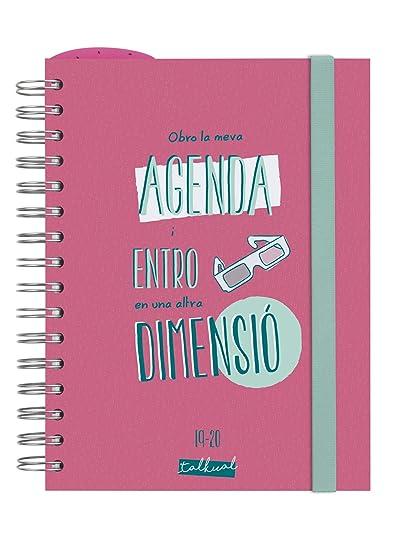 Finocam - Agenda 2019-2020 1 día página catalán Talkual Rosa