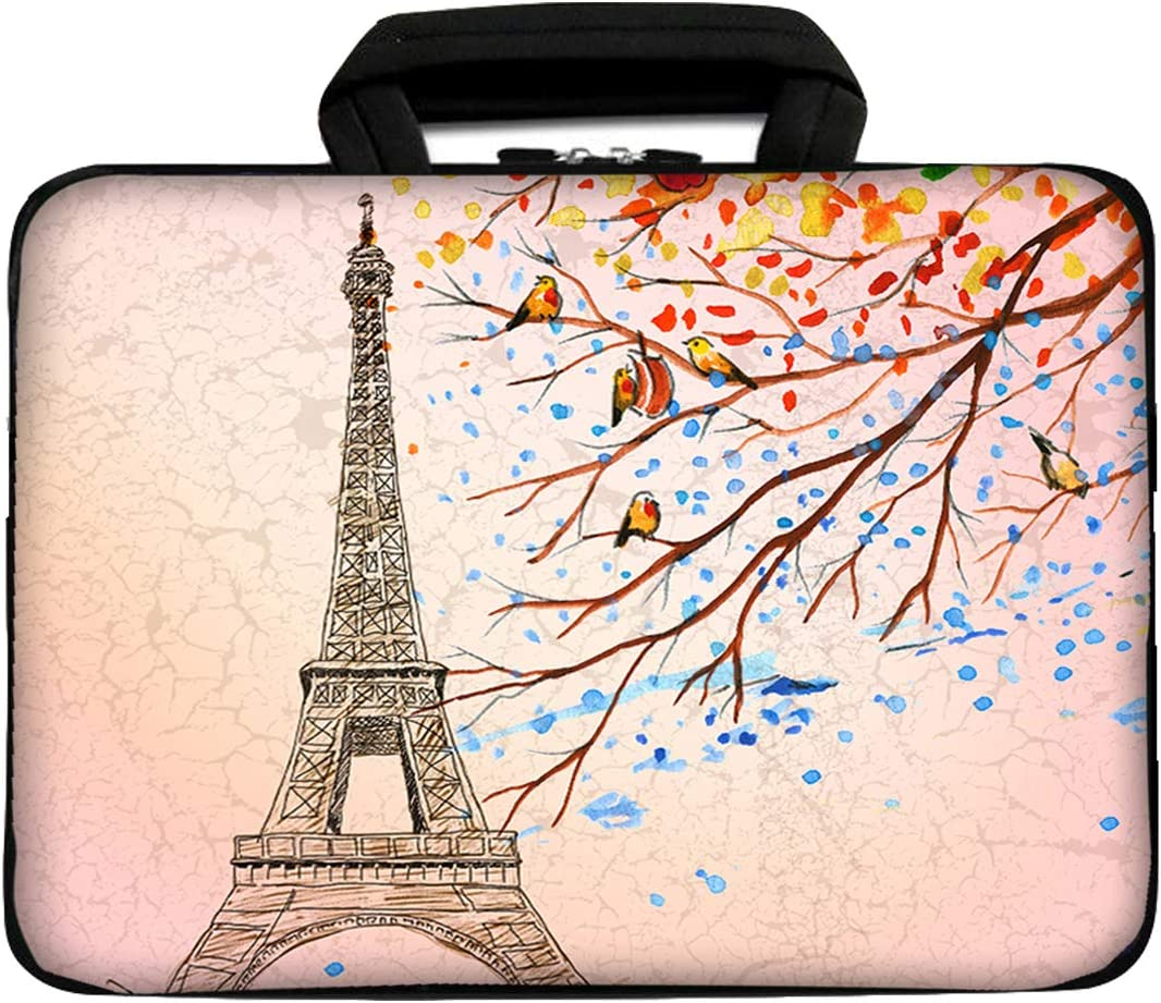 """iColor 12"""" Laptop Handle Bag 11.6"""" 12.2 inch Neoprene Notebook Tablet Sleeve Computer PC Carrier Protection Cover Case Pouch (Cute Pink)"""