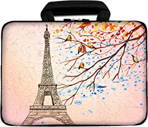 """iColor 9.7"""" 8"""" Tablet Bag Case 10"""" Laptop Sleeve 10.1"""" 10.2"""" Handbag Carrier eBook Computer PC Netbook Readers Top Handle Protection Carrying Cover Holder-Eiffel Tower"""