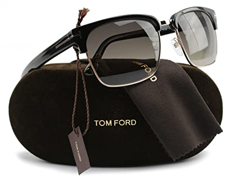 f0babddfdec4 Image Unavailable. Image not available for. Color  TOM FORD FT0367 River Polarized  Sunglasses Shiny Black ...