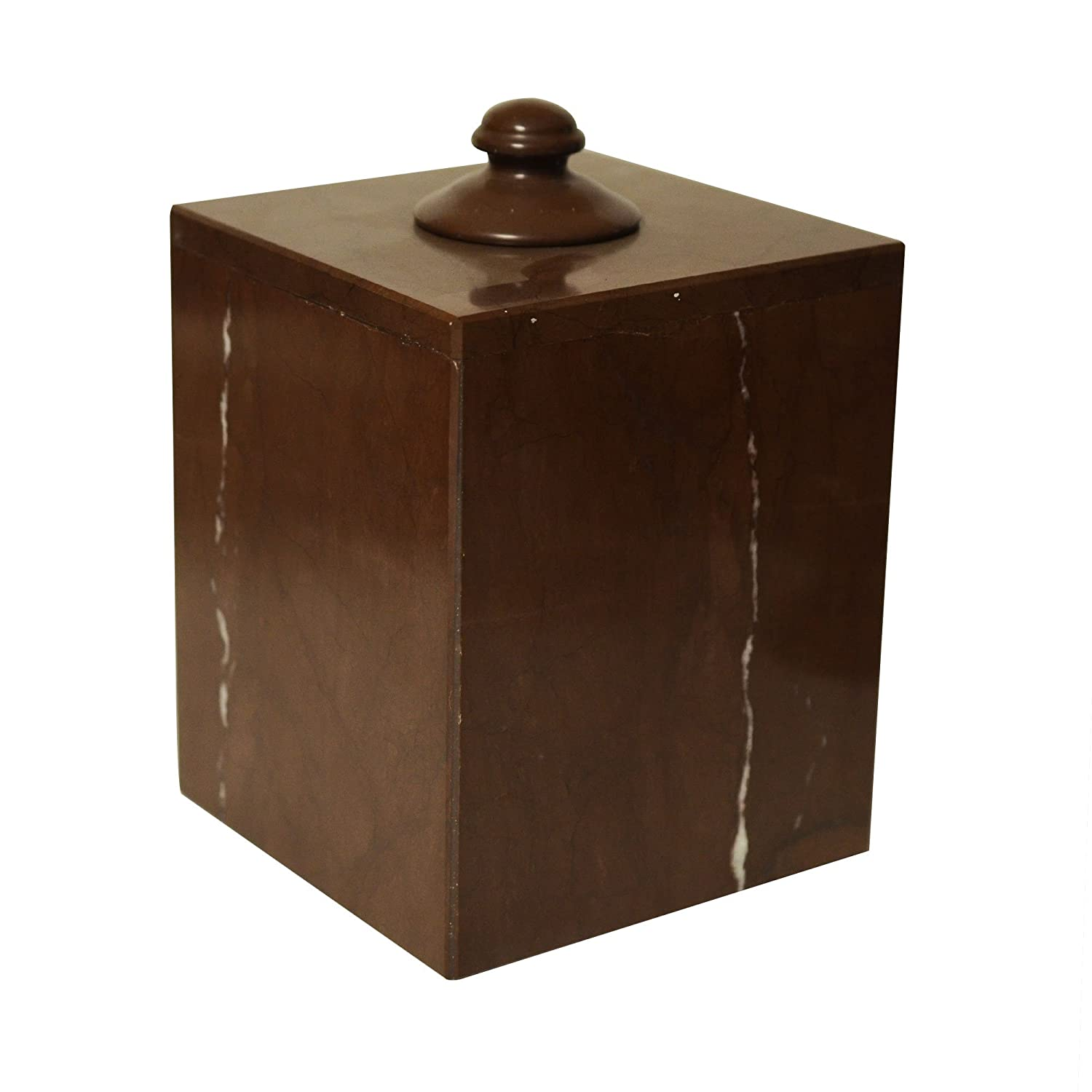Polished Marble Tissue Box Cover, Chocolate Shower and Bathroom Accessory