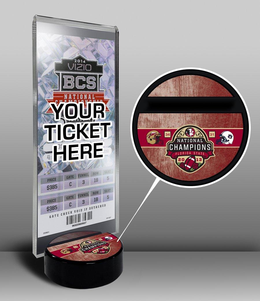 2018新発 NCAA Florida State Seminoles 2013 National Football National Championsチケット表示スタンド Florida、ワンサイズ Seminoles、マルチカラー B00HQEFWLK, 富良野市:52d00da8 --- arianechie.dominiotemporario.com
