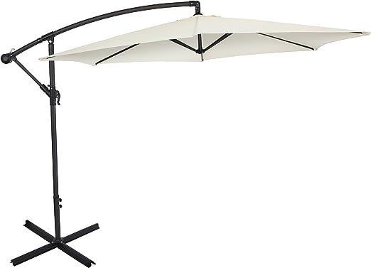 Ultranatura Parasol excéntrico, con manivela, apto como parasol para el jardín o sombrilla, muy grande y estable, beige: Amazon.es: Jardín