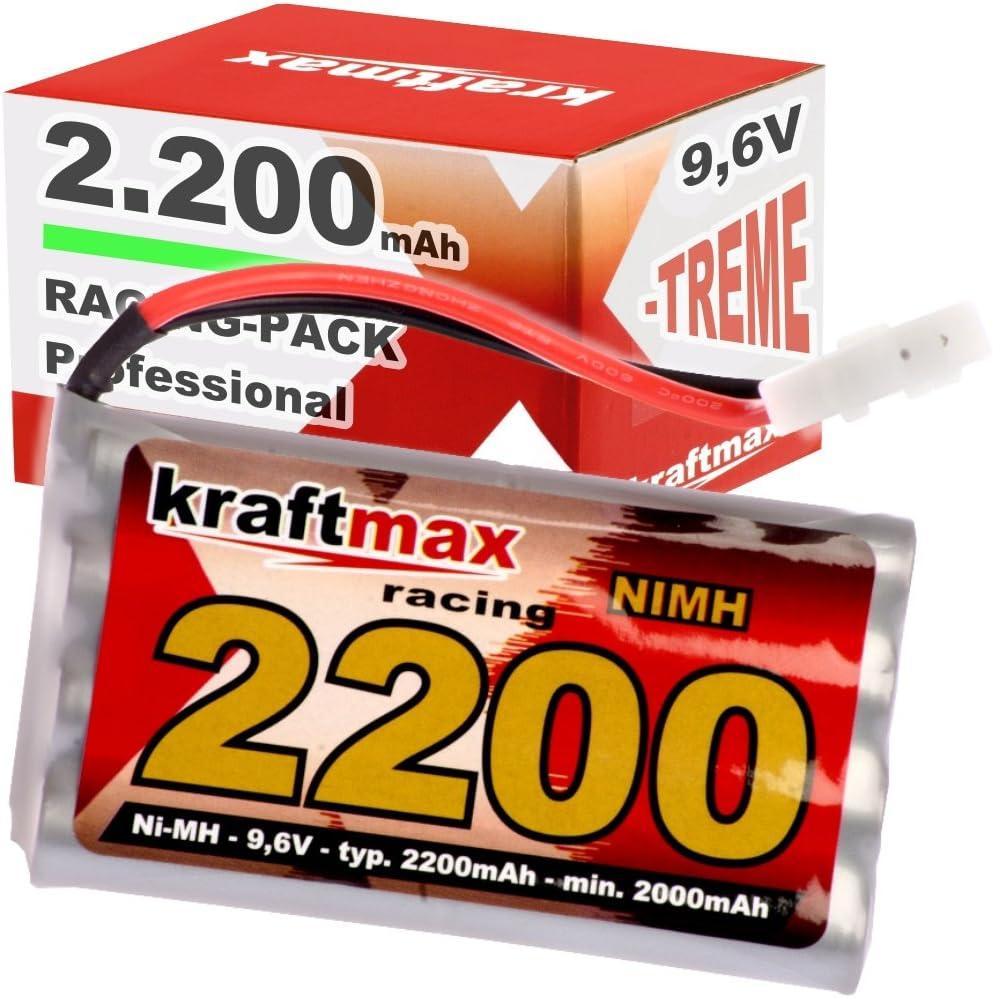 Kraftmax Recargable RC Racing-Pack con Tamiya Enchufe (9.6V, 2200mAh (mínimo 2000 mAh) NiMH)