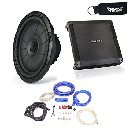 amazon com: alpine bbx-t600 amplifier and kicker compvt 12-inch subwoofer,  svc, 4-ohm - includes wire kit: electronics