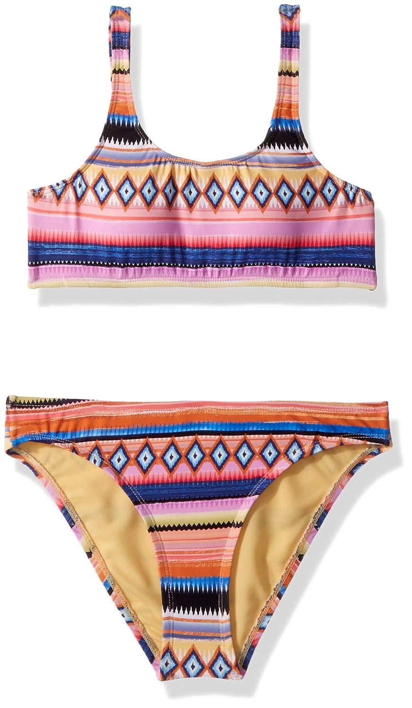 Hobie Girls' Big Tank Bralette Top & Hipster Bottom Swimsuit Set HG8ZG14G