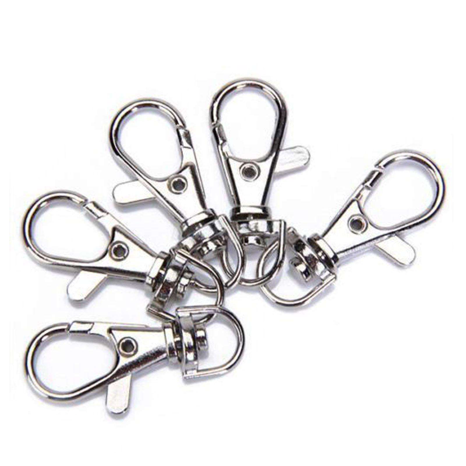 #10PCS - 5/10pcs Silver Swivel Trigger Clips Snap Lobster Clasp Hook Bag Key Ring Making