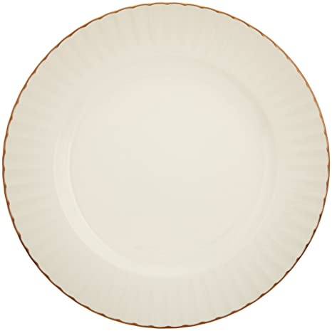 9d323f30ad Amazon.com: Marchesa Shades of White Accent Plate by Lenox: Kitchen ...