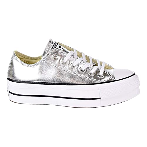 fe0b6fd5e5e1 Converse Women s Chuck Taylor All Star Lift Ox Casual Shoe Silver Black White  5 M US  Buy Online at Low Prices in India - Amazon.in