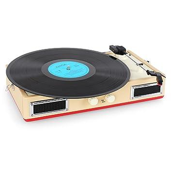 Ricatech RTT33 Altavoz estéreo con tocadiscos: Amazon.es ...