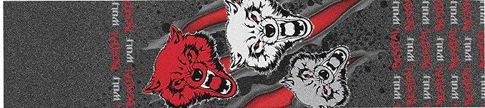Bestial Wolf Griptape, Lija Personalizada para Scooter Freestyle,12 x 53 cm (griptape32)