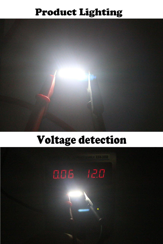 1,25 1.1 12 V LED Festoon Luz 4014 6-SMD sol visera espejo LED bombillas para Veh/ículo 6615 F 6614 F 3021 3022 3175 T-2 SF6//6 amazenar unidades 80 l/úmenes XENON Blanco 28 mm 31 mm