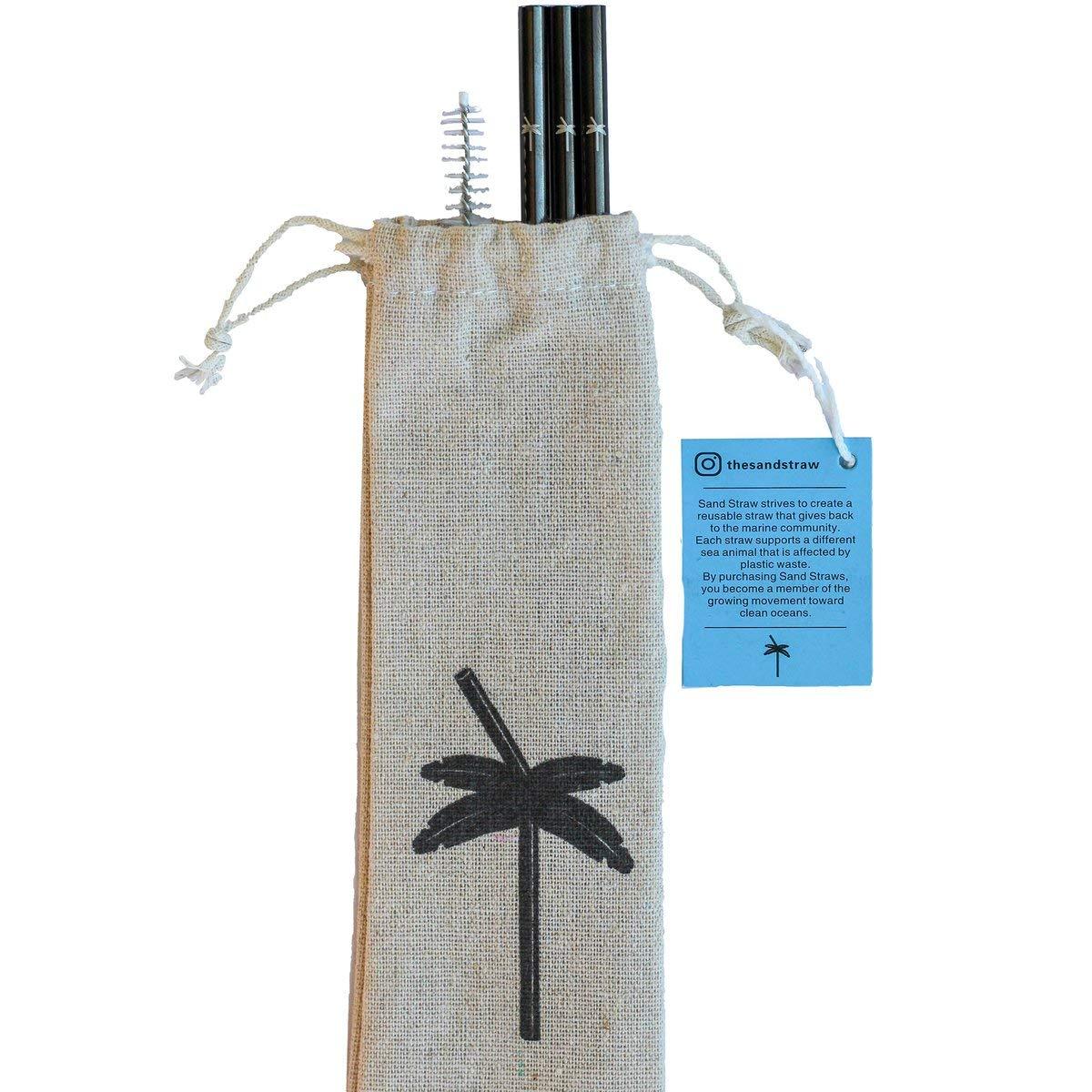 Amazon.com: Pajita de arena reutilizable de acero inoxidable ...