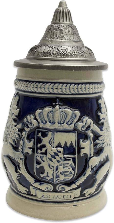 Lid German Ceramic Stein Coat of Arms