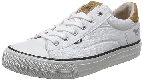 Mustang 1272-301-1, Zapatillas para Mujer, Blanco (Weiß 1)