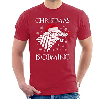 60ce7fd42e0 Christmas is Coming Stark Direwolf Sigil Game Of Thrones Men s T-Shirt