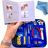 "EZTool Watch Repair Tool Kit & Jaxa Wrench: Plus 41-Page Watchmaker's ""Maintenance & Service"" Manual"