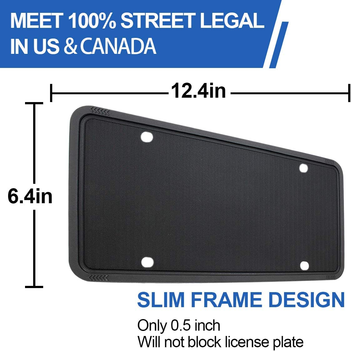 Orange wesport Silicone License Plate Frames Universal Applicable to US Standard Cars Rattle-Proof Weather-Proof License Plate Covers Holders