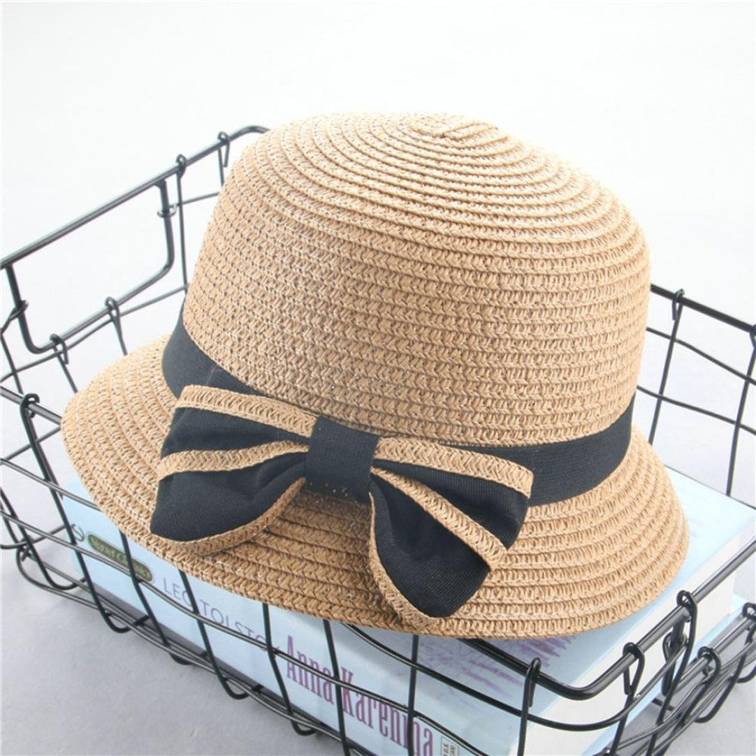 Hongxin Baby Summer Hat White Baby Girls Straw Bowknot Sun Hat Kids Spring Beach Cap Summer Hat Bow ChildrenS Sunshade Hat Folding Vacation Fisherman Hat Cap