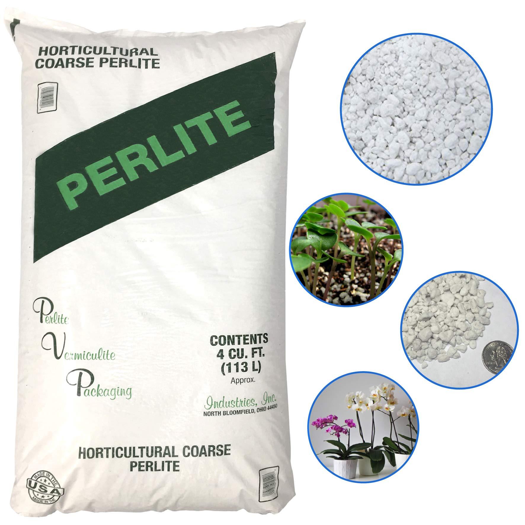 PVP Industries Inc PVP105408 Pelite 120 Quarts - 4 Cubic Foot of Organic Perlite Planting Soil Additive Gi, White