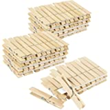 100 Pack Large Wooden Clothespins for Hanging Clothes, Outdoor, Classroom, Crafts (4 inch)