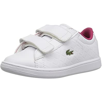 Lacoste Carnaby Evo 417 1 White/Pink Synthetic 10 M US Infant