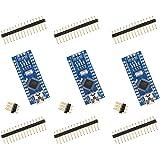 for Arduino Nano V3.0, ELEGOO Nano Board CH340/ATmega328P Without USB Cable, Compatible with Arduino Nano V3.0 (Nano x 3…