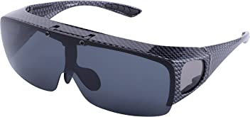 31efa57787 TINHAO Mens Polarized Flip Up Fitover Sunglasses with Mirrored Lenses