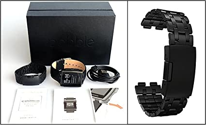 Pebble Steel Smart Watch - Black Matte: Amazon.es: Electrónica