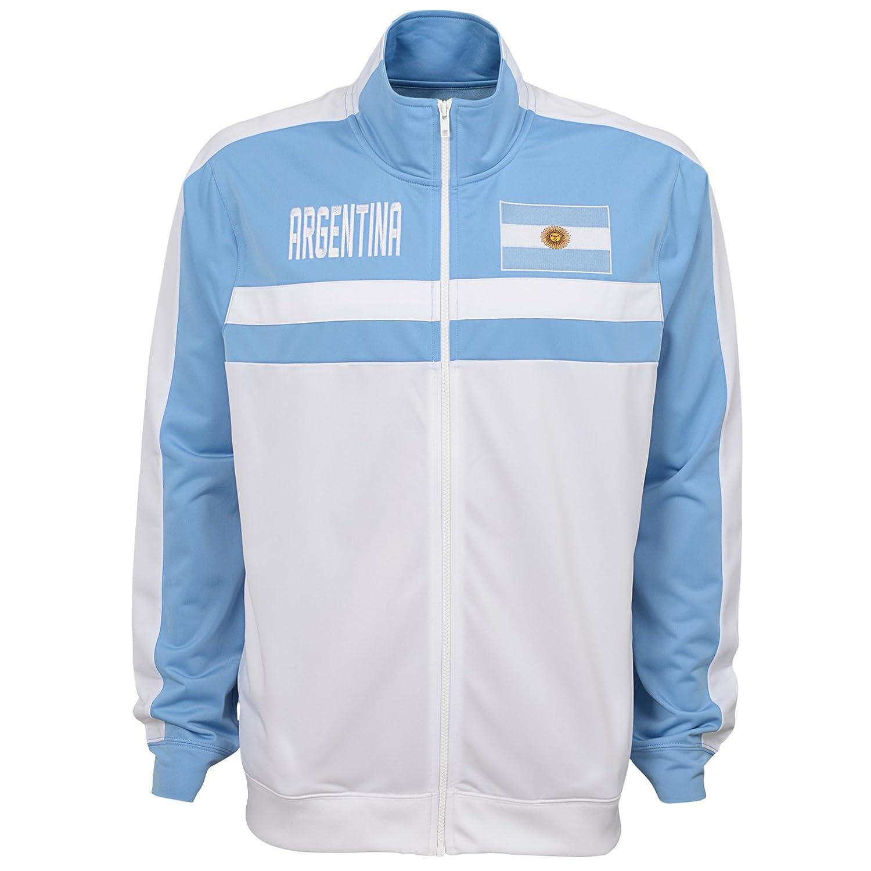 Team color Medium International Soccer Argentina Mens Outerstuff Track Jacket