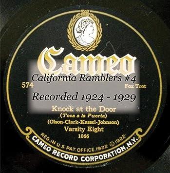 California Ramblers #4 Recorded 1924 - 19 274C