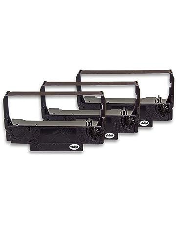 vhbw 3X Cinta de Tinta mecanográfica de Nailon para Impresora matricial/Agujas Orient BTP-